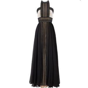 Naeem Khan one of a kind chiffon floor length gown